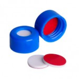 9mm AVCS Blue Target DP Cap w/Red PTFE/White Silicone Septum (100/pk)