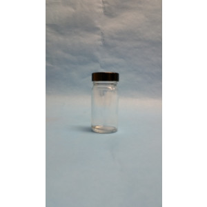 1oz Clear Tall WM Paragon Assembled w/33-400 Black Phenolic Poly Cone Lined Cap (480/cs)