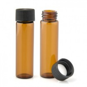 15x45 Amber Glass Vial w/assembled Teflon lined cap  144cs