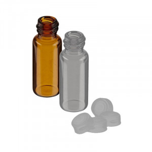 4mL Amber Non-Assembled Sample vial  w/13-425 Solid Top PTFE Lined Cap (100/pk)