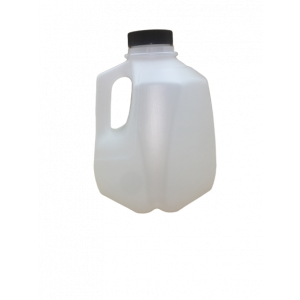 32oz Squat Quarts HDPE Screw Top Jug Assembled w/38-400 BLACK PP F217 Cap (162/cs)
