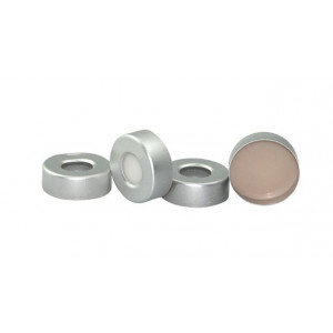 20mm Open Aluminum Seal with PTFE/Silicone Septa (100pk)