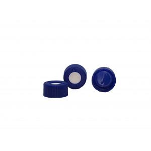 9mm AVCS Blue Target DP Cap, Pre-Slit TEF/Silicone Septa (100/pk)