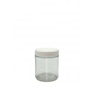 4oz Clear Straight Sided Jar Assembled w/58-400 F-217 Lined Cap (24/cs)