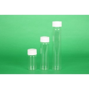 60mL Clear VOA Vial 24-414 WHT 2pc PTFESep, B1/BC/L, Shrink wrapped (100/cs)