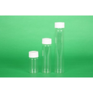 40mL Clear #33 Expansion Glass VOA Vial Assembled w/Open Top Bonded T/S Septa Cap, Certified (144/cs)