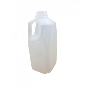 64oz Natural HDPE Dairy Style Jug w/38-400 F-217 Lined Cap, Certified (54/cs)