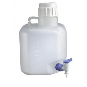 5 Liter PP Autoclavable Azlon Carboy w/Stopcock (Each)