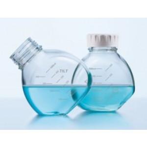 500mL Duran Tilt Media Bottle, clear borosilicate glass 3.3 bottle screw top, graduated, thread GL 56, with cap, non-sterile (4cs)