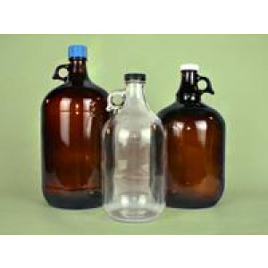 1 Gallon Clear RIng Handled Jug Assembled w/ 38-400 Polyvinyl Lined PP Cap (4/cs)