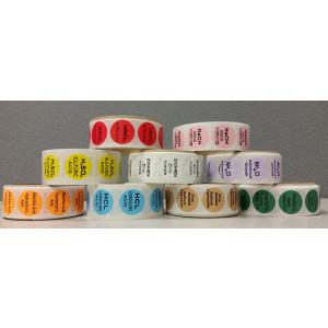 Ascorbic & Hydrochloric Acid {Orange} Color Coded Sample Labels {Ascorbic +HCL} (1000/Roll)