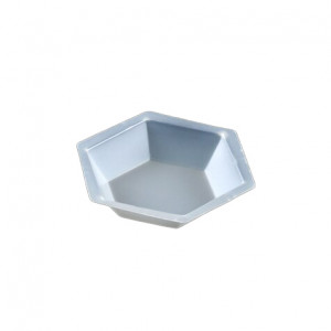 Weighing Dish, Plastic, Hexagonal, Antistatic, 20mL, PS, 500/Unit