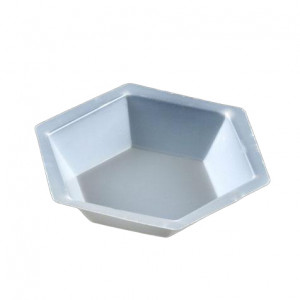 Weighing Dish, Plastic, Hexagonal, Antistatic, 200mL, PS, 500/Unit