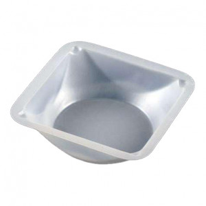 Weighing Dish, Plastic, Square, Antistatic, 100mL, 89 x 89 x 25mm, PS, 500/Unit