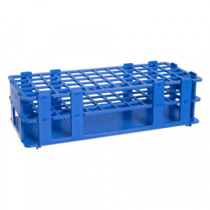 Rack, Tube, 12/13mm, 90-Place, PP, Blue