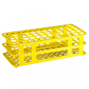 Rack, Tube, 25mm, 40-Place, PP, Yellow