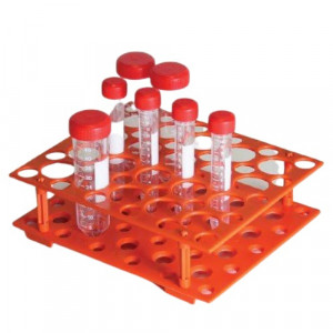 Rack, for 15mL and 50mL Centrifuge Tubes, Orange