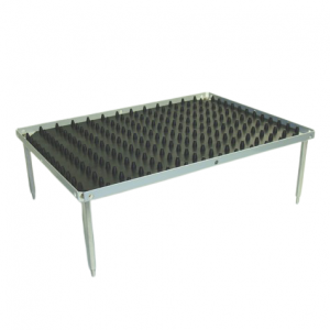 "Accessory for Nutating Mixer and Blot Mixer: Stackable Platform with Dimpled Mat, 10.5"" x 7.5"""