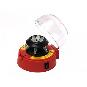 Mini-Centrifuge with 2 Rotors, Red, 115V