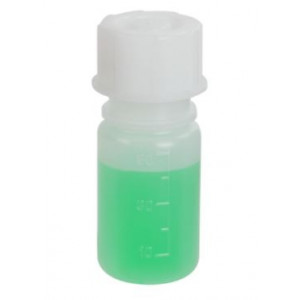 Bottle with Screwcap, Wide Mouth, LDPE, Graduated, 50mL, 10/Unit