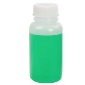 Bottle with Screwcap, Wide Mouth, PP, Graduated, 50mL, 100/Unit