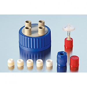 DWK Kimble Pressure equilization cap with filter for 4-Port GL 18 (1pk)