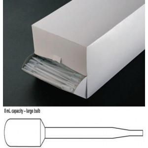 Transfer Pipet, 8.0mL, General Purpose, Large Bulb, 157mm, 400/Dispenser Box, 10 Boxes/Unit