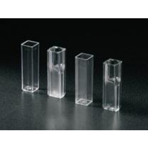 Cuvette, Spectrophotometer, Square, 4.5mL (10mm), UV Grade Methacrylate, 4 Clear Sides, 100/Tray, 5 Trays/Unit