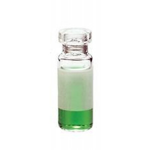 2mL Clear Crimp Vial Silanized  w/ Numbered graduations and patch,(100/pk)