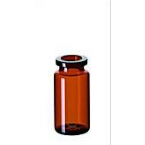 10mL AMBER CRIMP HEADSPACE VIAL ROUND BOTTOM  (100pk)