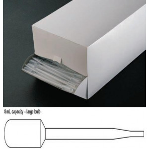 Transfer Pipet, 8.0mL, General Purpose, Large Bulb, 157mm, 400/Dispenser Box
