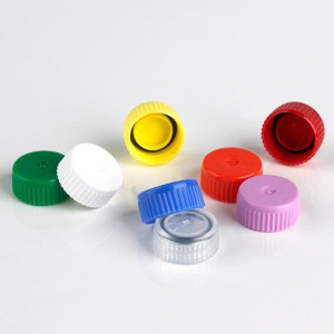 Screw Cap for Microtube, with O-Ring, Yellow, 500/Bag, 2 Bags/Unit