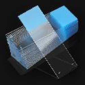 Microscope Slides, White Glass, 25 x 75mm, Positive Charged, 45° Beveled Edges, Safety Corners, Blue Frosted, 72/Box