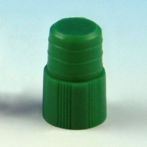 Cap, Plug, 12mm, Green, 1000/Unit