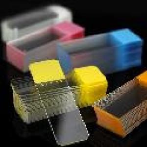 Microscope Slides, Diamond White Glass, 25 x 75mm, 90° Ground Edges, ORANGE Frosted, 72/Box, 20 Boxes/Case (10 Gross)
