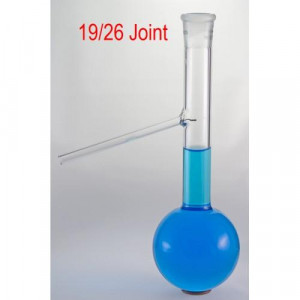Distillation Flask, 125mL, Herzog®, 19/26 Joint, D86, QUARTZ (ea)