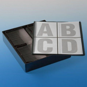 Slide Staining Storage Box, Black Polystyrene, (for up to 4 racks #GS513220)