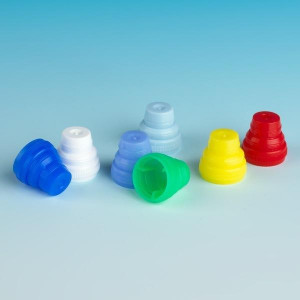 Cap, Plug, Multi-Fit for most 10mm, 12mm, 13mm and 16mm Tubes, Light Blue, 1000/Unit