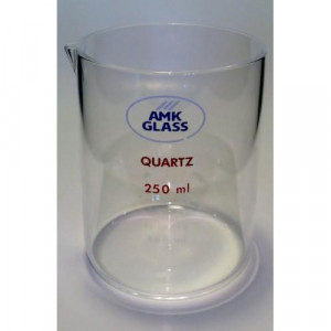 Beaker, 600mL, QUARTZ, Low Form, Pourout (ea)