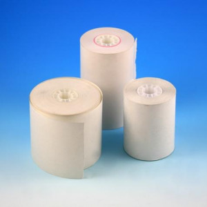 Thermal Printer Paper, 58mm wide x 45mm diameter x 80 ft long, 3 Rolls/Pack, 16 Packs/Unit
