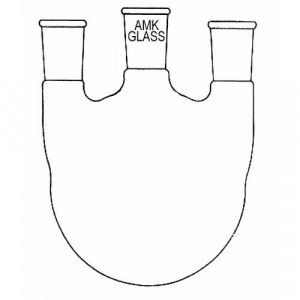 Round Bottom Flask, 500mL, 3-Neck, Vertical, 34/45 Center, 24/40 Sides (ea)
