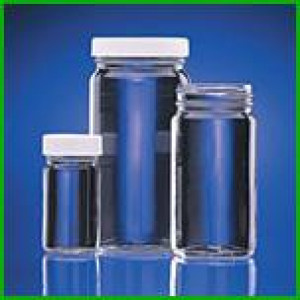 1oz Clear Tall WM AC Jar Assembled w/33-400 Black Phenolic Poly Cone Lined Cap (432/cs)