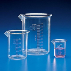 Beaker, PMP (TPX), Molded Graduations, 500mL, 1/Unit