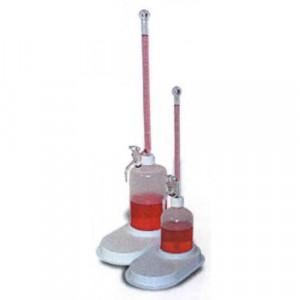 S-O-M Buret, 10mL, 165mm, 500mL Poly Bottle, Teflon® Plug, Graduated w/ Black Markings (ea)