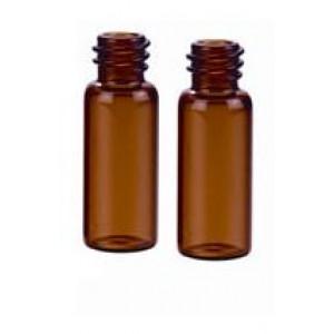 12mL AMBER BOROSILICATE GLASS SAMPLE VIAL, 15-425 FINISH, 19 x 65mm Vial (200/pk)