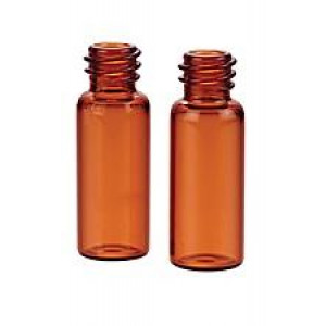 2mL Amber Glass Vial  12x32mm, Flat Base, 8-425 Screw Thread Vial (100/pk)