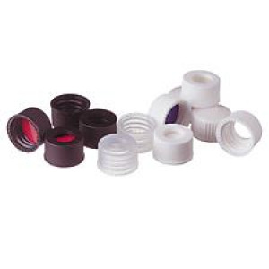 Black Open Hole Cap w/13-425 Finish (100/pk)