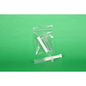 Open Barrel Syringe/HDPE Plunger, Printed Graduations in 1/2mL Increments to 5mL (100/pk)
