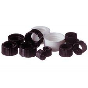 13-425 Black Finish Open Hole Screw Thread Cap (100/pk)