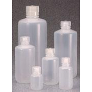 250mL Narrow Mouth LDPE Bottle, 24-415 PP Screw Thread Closure {Packaging Grade} (250/cs)